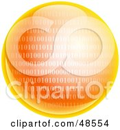 Royalty Free RF Clipart Illustration Of An Orange Binary Code Globe
