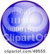 Royalty Free RF Clipart Illustration Of A Blue Binary Code Globe