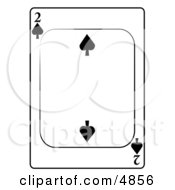 Two2 Of Spades Playing Card