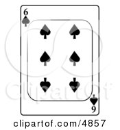 Six6 Of Spades Playing Card Clipart by djart