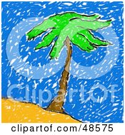 Childs Drawing Of A Palm Tree