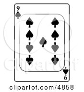 Nine9 Of Spades Playing Card Clipart by djart