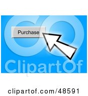Royalty Free RF Clipart Illustration Of A Computer Cursor Clicking On A Purchase Button On Blue by Prawny