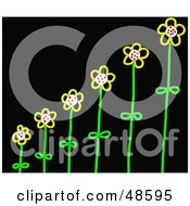 Royalty Free RF Clipart Illustration Of Growing Stick Flowers by Prawny