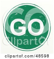 Royalty Free RF Clipart Illustration Of A Green Colored Go Sign