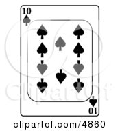 Ten10 Of Spades Playing Card Clipart