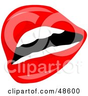 Royalty Free RF Clipart Illustration Of A Sexy Female Mouth With Flaming Red Lipstick