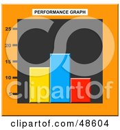 Royalty Free RF Clipart Illustration Of A Colorful Performance Bar Graph