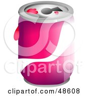 Royalty Free RF Clipart Illustration Of A Pink And White Soda Can by Prawny