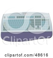 Royalty Free RF Clipart Illustration Of A Computer Keyboard With A Wrist Rest by Prawny
