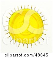 Royalty Free RF Clipart Illustration Of A Textured Yellow Sun