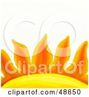 Royalty Free RF Clipart Illustration Of A Close Up Of Orange Sun Rays by Prawny