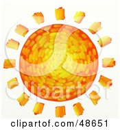 Royalty Free RF Clipart Illustration Of An Artistic Orange Yellow And Red Sun by Prawny