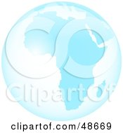 Royalty Free RF Clipart Illustration Of A Blue Glass Globe Of Africa
