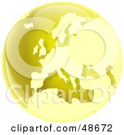 Royalty Free RF Clipart Illustration Of A Gold Globe Of Europe