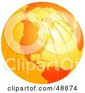 Orange Globe With Textured Lines