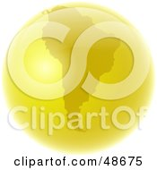 Royalty Free RF Clipart Illustration Of A Golden Globe Featuring South America