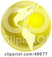 Royalty Free RF Clipart Illustration Of A Gold Globe Of America