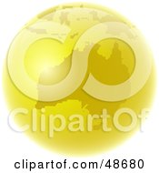 Royalty Free RF Clipart Illustration Of A Golden Globe Featuring Australia