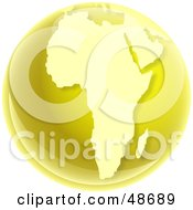 Royalty Free RF Clipart Illustration Of A Gold Globe Of Africa