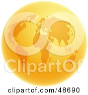 Royalty Free RF Clipart Illustration Of A Hot World Globe In Orange