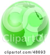 Royalty Free RF Clipart Illustration Of A Green Globe Of Africa