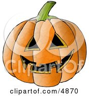 Carved Halloween Pumpkin Face Clipart by Dennis Cox