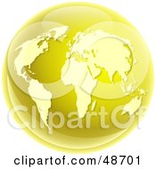 Royalty Free RF Clipart Illustration Of A Gold World Globe