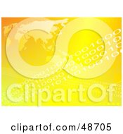 Royalty Free RF Clipart Illustration Of A Yellow Atlas Background With Rows Of Binary