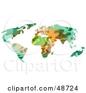 Royalty Free RF Clipart Illustration Of An Abstract Earth Atlas by Prawny
