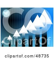 Royalty Free RF Clipart Illustration Of An Arrow Bar Graph Background On Blue With A Globe by Prawny