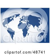 Royalty Free RF Clipart Illustration Of A Blue And White World Atlas by Prawny