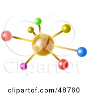 Royalty Free RF Clipart Illustration Of An Orange Globe Molecule