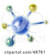 Royalty Free RF Clipart Illustration Of A Blue Globe Molecule