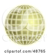 Royalty Free RF Clipart Illustration Of A Glowing Green Grid Globe