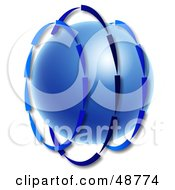 Royalty Free RF Clipart Illustration Of Blue Arrows Circling Around A Blue Globe by Prawny