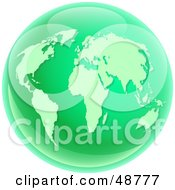 Royalty Free RF Clipart Illustration Of A Green On Green World Globe