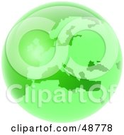 Royalty Free RF Clipart Illustration Of A Green Globe Of Europe