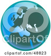 Royalty Free RF Clipart Illustration Of A Shiny Green And Blue European Globe