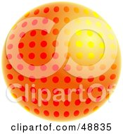 Royalty Free RF Clipart Illustration Of A Gradient Orange And Yellow Dotted Globe