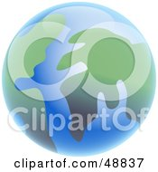Royalty Free RF Clipart Illustration Of A Shiny Blue And Green Abstract Globe