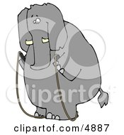 Human Like Obese Elephant Jump Roping Clipart by djart