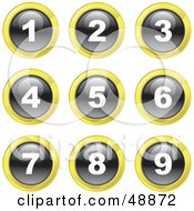 Royalty Free RF Clipart Illustration Of A Digital Collage Of Black White And Yellow Number Icons