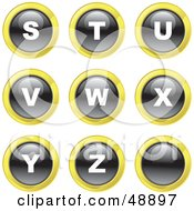 Royalty Free RF Clipart Illustration Of A Digital Collage Of Black White And Yellow S Through Z Letter Icons