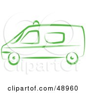 Royalty Free RF Clipart Illustration Of A Green Van by Prawny