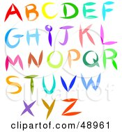 Digital Collage Of Colorful Alphabet Letters THIS IS NOT A FONT
