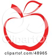 Royalty Free RF Clipart Illustration Of A Red Apple