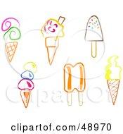 Digital Collage Of Colorful Ice Cream Desserts