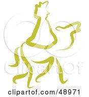 Royalty Free RF Clipart Illustration Of A Green Wise Man