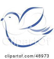 Royalty Free RF Clipart Illustration Of A Blue Dove by Prawny